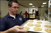 Steven Stewart, who co-owns three Juice Stop shops in Lawrence and two in Topeka, opened Blue Chip Cookies on Wednesday in the Westgate Shops shopping center at the southeast corner of Sixth Street and Wakarusa Drive.