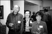 From left, Don and Barbara Roehl and Shirley Reece attend the Trinity Episcopal Church Progressive Dinner. The event, which included cocktails, dinner and entertainment, was Oct. 3.