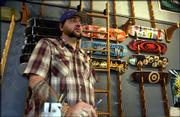 John Niswonger, owner of Let it Ride skateboard shop, 15 E. Seventh St., is closing his shop after nearly a decade in Lawrence. Saturday will be his last day in business.