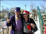 Luke Ditto and Tammy Gulotta dress up as Willy Wonka and a pirate. They attended the Lawrence Community Nursery School's Fall Festival Oct. 30.