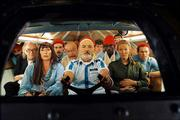 """Bill Murray, center, pilots an oceanography crew intent on hunting down the """"jaguar shark"""" that killed a colleague in the comedy """"The Life Aquatic with Steve Zissou."""""""