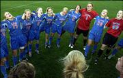 Kansas University's women's soccer team sang the Rock Chalk chant after defeating Iowa State for a share of the Big 12 title.