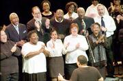 The Lawrence Martin Luther King Jr. Adult Community Choir performance was one highlight of MOnday's gathering at the Lied Center. A children's choir also sang.