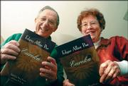"Stuart and Susan Levine show off copies of their new annotated version of Edgar Allan Poe&squot;s ""Eureka,"" which lays out Poe&squot;s thoughts on science and how the universe began."