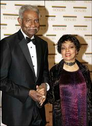 Ossie Davis and wife, Ruby Dee arrive at the State Department for a Dec. 4, 2004, dinner celebrating them and fellow Kennedy Center honorees. Davis, 87, was found dead Friday.