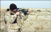 "Sgt. Michael Browning, of Independence, Mo., looks through the scope of a foreign sniper rifle, which he fired while out on patrol in southern Iraq.<br> <a href= ""http://etc.lawrence.com/galleries/Bootsonthegr/7748_lores.html"" target=""_new"" onclick= ""window.open(&squot;http://etc.lawrence.com/galleries/Bootsonthegr/7748_lores.html&squot;,&squot;Photo&squot;,&squot;height=650,width=550,screenX=10,screenY=10,&squot; + &squot;scrollbars,resizable&squot;); return false;""> <img src=""http://www.ljworld.com/art/icons/icon_photo.gif"" border= ""0"" alt=""photo""> Photo Gallery: Boots on the ground</a><br>"