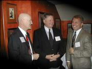 From left are Charles Decedue, executive director of Kansas University's Higuchi Biosciences Center; Clay Blair, chairman of the Kansas Bioscience Authority; and Tracy Taylor, president and chief executive officer of the Kansas Technology Enterprise Corp. They attended the annual meeting of the Lawrence Technology Assn. Feb. 3 at Hereford House, 4931 W. Sixth St.