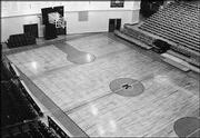 Before moving to Allen Fieldhouse, KU's basketball team played in cramped Hoch Auditorium, above.