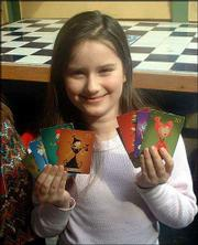 MIRANDA EVARTS, of Milford, N.J., came up with her Sleeping Queens card game two years ago. It is the first kid-invented game published by Gamewright, a Massachusetts company.