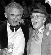 "Authors Norman Mailer, left, and Truman Capote socialized in New York despite sometimes being critical of each other. Mailer described Capote as ""the most perfect writer of my generation.""<br> <a onclick= ""window.open(&squot;http://www2.ljworld.com/photos/galleries/2005/apr/03/in_cold_blood_a_legacy_in_photos/166/&squot;, &squot;PhotoGallery&squot;, &squot;width=650,height=650,scrollbars=yes,resizable=yes&squot;); return false;"" href= ""http://www2.ljworld.com/photos/galleries/2005/apr/03/in_cold_blood_a_legacy_in_photos/166/""> <img src=""http://www.ljworld.com/art/icons/icon_photo.gif"" border= ""0"" alt=""text""> See slide show »</a>"