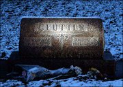 "The headstone of the Clutter family. Nancy and Kenyon Clutter are buried to the left and right under smaller headstones.<br> <a onclick= ""window.open(&squot;http://www2.ljworld.com/photos/galleries/2005/apr/03/in_cold_blood_a_legacy_in_photos/166/&squot;, &squot;PhotoGallery&squot;, &squot;width=650,height=650,scrollbars=yes,resizable=yes&squot;); return false;"" href= ""http://www2.ljworld.com/photos/galleries/2005/apr/03/in_cold_blood_a_legacy_in_photos/166/""> <img src=""http://www.ljworld.com/art/icons/icon_photo.gif"" border= ""0"" alt=""text""> See slide show »</a>"