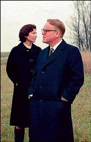 "Philip Seymour Hoffman and Catherine Keener portray authors Truman Capote and Harper Lee in ""Capote,"" a United Artists film being shot in Manitoba, Canada."