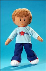 Goodwin is a plush Real Kidz doll inspired by the biracial nephew of toymaker Courtney Helm.