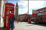 Two elements that epitomize London are British Telecom red phone boxes and the double-decker Routemaster buses. Travelers on a budget can take advantage of the buses, as the fare is just 1.20 pounds, or $2.25, for a single ride.