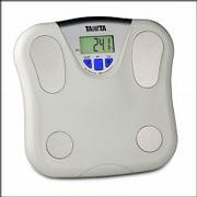 The Tanita 2 Memory Body Fat scale has a 1.4 inch display and a memory for two users. It costs $29.99.