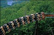 Thrill-seekers can find a wild ride on the Wildfire roller coaster at Silver Dollar City in Branson, Mo.