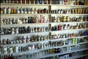 Marlo Nansel's salt and pepper shaker collection takes up an entire wall of his apartment in Hays.