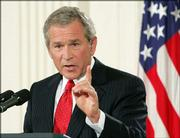 President Bush held a rare prime-time news conference Thursday.