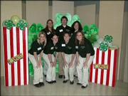 Douglas County 4-H Ambassadors take time out of their training to pose for a picture. Ambassadors attended workshops on marketing techniques to educate the public about opportunities in 4-H. Pictured are, back row from left, Michelle Colgan, Michael Krumm and Margaret Pendleton; front row from left, Rebecca Hinshaw, Jenn Crawford, Casey Davis and Kari Hadl.