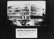 A print of the first Eldridge Hotel, built in 1856 by Col. S.W. Eldridge.