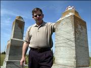 Caretaker Neil Shanberg is among those who wish to improve the present state of the Jewish cemetery near Eudora. Shanberg is former president of the Lawrence Jewish Community Center.