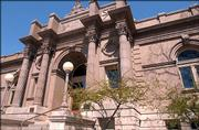 The Carnegie Library building at Ninth and Vermont streets.