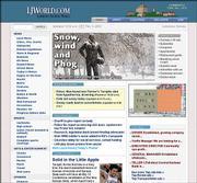 The Journal-World's Web site, LJWORLD.COM, seen in this screen capture, won an EPpy Award Thursday for Best Internet News Service.