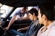 """Alonso Mayo, left, directs actors Jeff Licon and Jose Yenque in a scene from his film """"Wednesday Afternoon."""" Mayo - a former Lawrence resident - earned a 2005 Student Academy Award in the narrative category."""