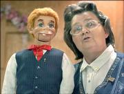 Ventriloquist Sharon Curren and a puppet named Corky perform at Faith United Baptist Church in St. Joseph, Mo. The 59-year-old St. Joseph woman was diagnosed with colorectal cancer in 1996. And for a time she let the illness drain some of the happiness from her life, she said. But during that time she also found God and Corky.