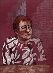 Carrie Parbs, Martin K. Miller's former mistress, is shown in this courtroom sketch. June 21, 2005.
