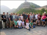 Members of the Kansas University Wind Ensemble visit the Great Wall during their tour of China. Director John Lynch and nine KU faculty members accompanied the 59-member band on the 12-day tour, which included master classes and five public concerts.