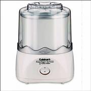 The Cuisinart Automatic Ice Cream and Frozen Yogurt Maker has a double-insulated freezer bowl that makes 1 1/2 quarts of ice cream. It costs $49.95