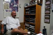 Lawrence Parks and Recreation Youth Sports Supervisor Lee Ice sits in his office at the Holcom Sports complex.