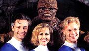 "Carl Ciarfalio, clockwise from top, Jay Underwood, Rebecca Staab and Alex Hyde-White star in Roger Corman&squot;s unreleased 1994 version of ""The Fantastic Four."""