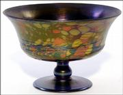 This rare Fenton mosaic art-glass compote was shown in the 1926 catalog. The 6-1/2-inch-high compote sold for $2,300 recently at an Early Auction Co. auction in Milford, Ohio.