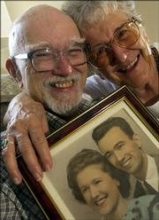 Lawrence residents John and Vera De Mott will soon celebrate their 60th wedding anniversary. John and his two brothers have been married for a combined total of 180 years.