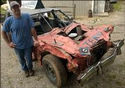 Mike Leming, of Lecompton, has been competing in demolition derbies for 13 years.