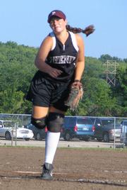 "Phenix Ts player Lisa Pearse pitches a ball during a American Fastpitch Assn. National ""B"" Tournament game at Youth Sports Inc. on Wednesday."