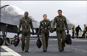 "Jamie Foxx, left, Jessica Biel, center, and Josh Lucas star in the epic action adventure ""Stealth."""