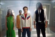 "Danielle Panabaker, left, Dee-Jay Daniels, Michael Angarano and Steven Strait attempt to thwart a supervillain who has invaded their homecoming dance in ""Sky High."""