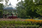 The gazebo in South Park and the surrounding gardens are a Lawrence landmark.