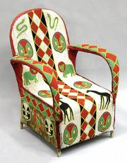 This African beaded chief's chair was made by members of the Yoruba tribe around 1960. It is 35 inches high. The chair sold this May at Clars Auction Gallery in Oakland, Calif., for $644.