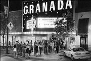 A line forms outside The Granada, 1020 Mass., before a concert. After a 60-year history as a movie theater, the venue now attracts touring headliners.