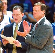 Though KU coach Bill Self, right, lost a ton of scoring to graduation, he says the Jayhawks will be 'good' this season.