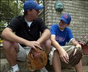 Todd Hayworth talks to Thomas Sidor about Thomas beginning the year at his new high school. Thomas told Hayworth he thought he was going to try out for the baseball team at his new school. Thomas met Hayworth after being paired with him in a local truancy diversion program.