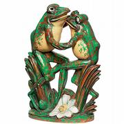 Among the largest and most expensive of Weller's garden ornaments is this pair of dancing frogs. The 16 1/2-inch-high Coppertone frogs sold recently at Rago Arts and Auction Center in Lambertville, N.J., for $8,225.