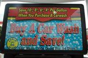 Zarco 66 promotes a deal that offers savings on gasoline purchases if customers buy a car wash.