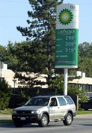 A gallon of regular unleaded gasoline sells for $2.99 a gallon, while premium grades have passed $3 at the BP gas station at 914 Iowa.