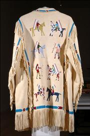 A beaded jacket by Joseph Sky Wolf will be on exhibit at the Lawrence Arts Center, 940 N.H.