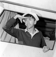 Bob Denver in an early episode in the title role of Gilligan.